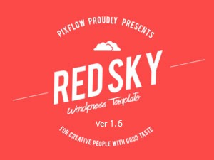 WordPress theme RED SKY