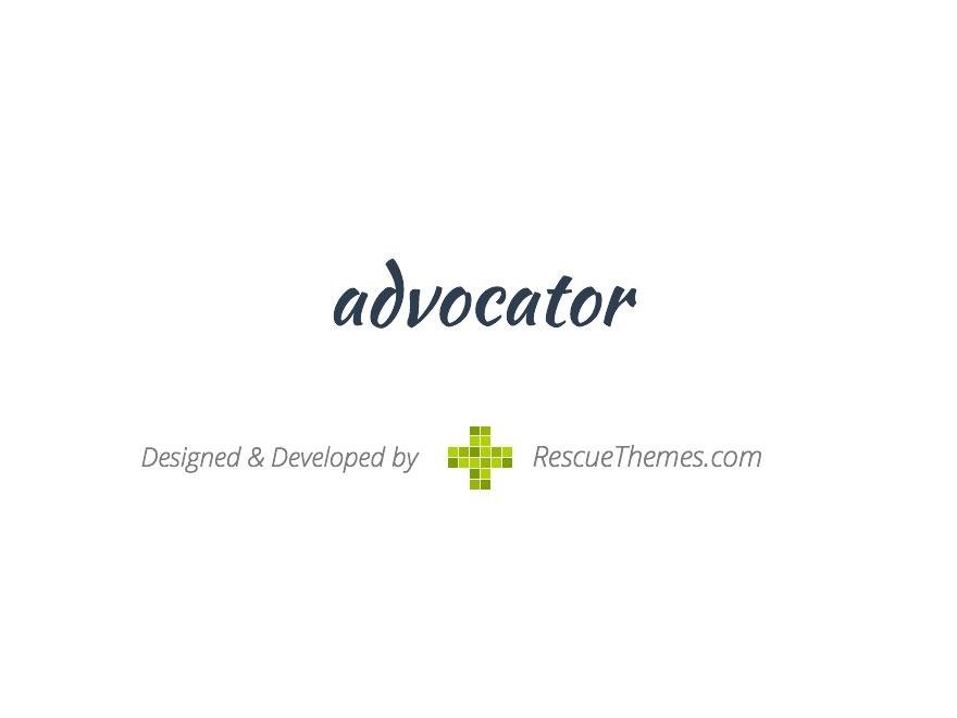 WordPress website template Advocator