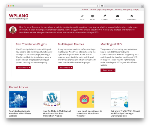 WordPress website template Caroline - wplang.org
