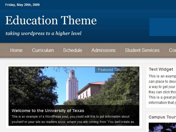 WordPress website template Education