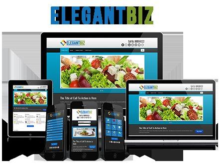 WordPress website template ElegantBiz