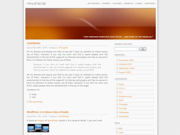 WordPress website template MainTheme