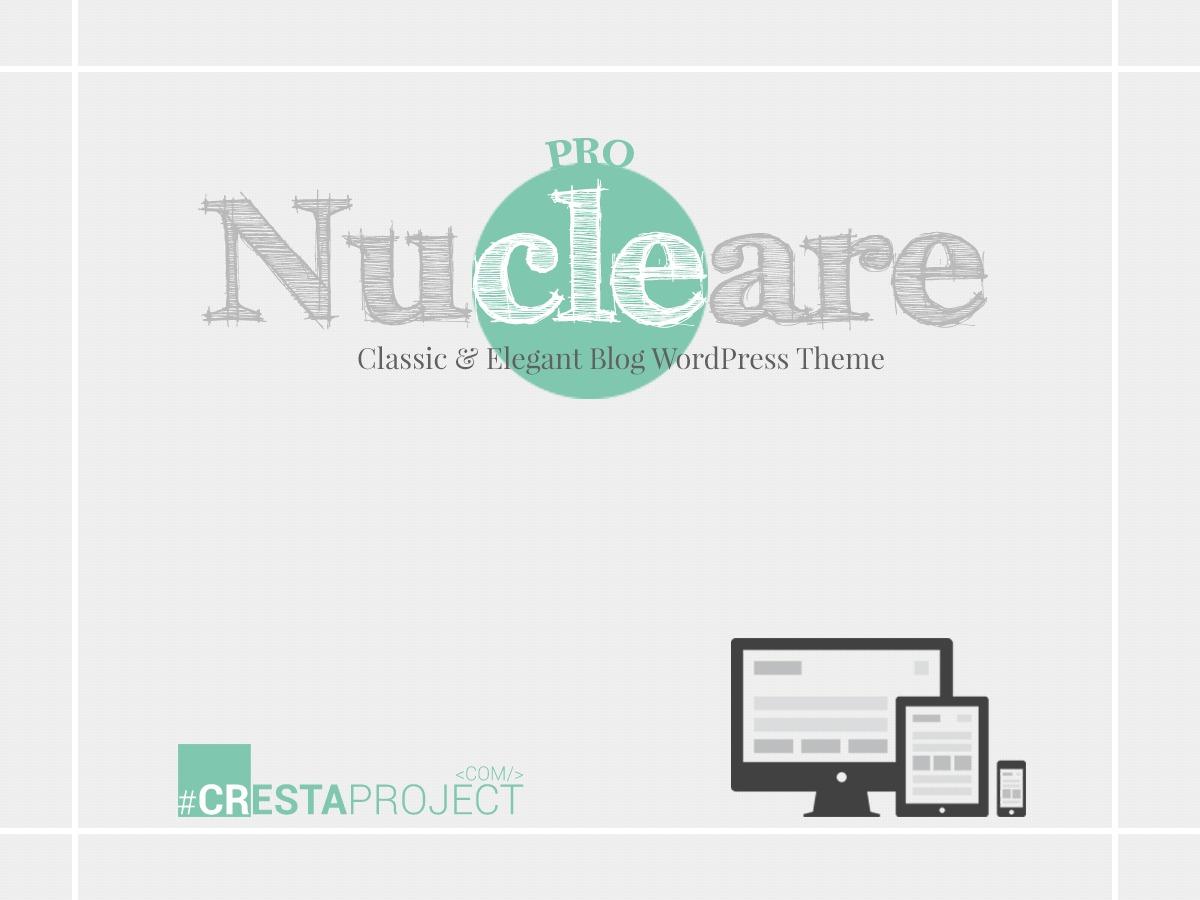 WordPress website template Nucleare Pro