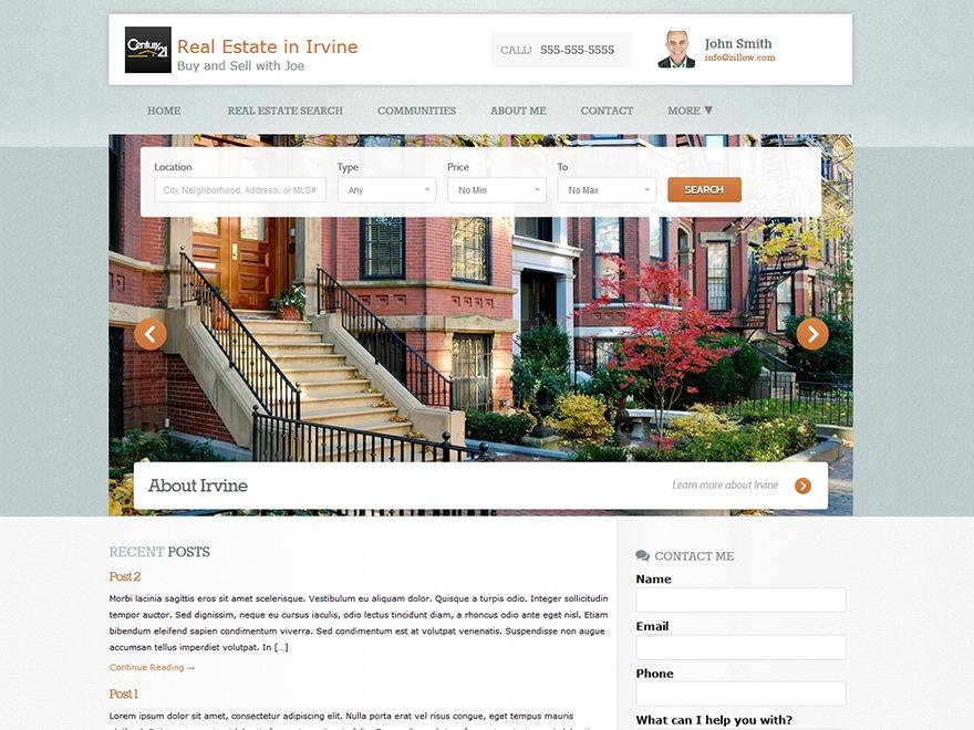 WordPress website template Photogenic