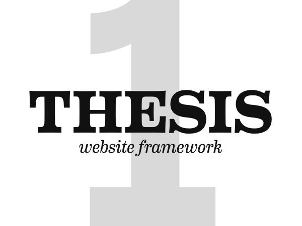 WordPress website template Thesis