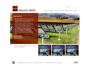 WordPress website template Wallace Group