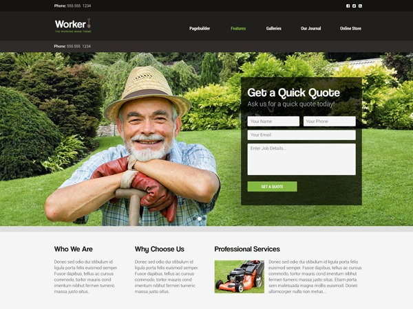 Worker top WordPress theme