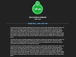 World IPv6 Theme WordPress theme