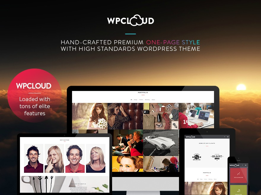 Wp Cloud WordPress gallery theme