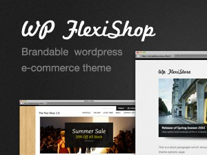 WP FlexiShop WordPress shopping theme