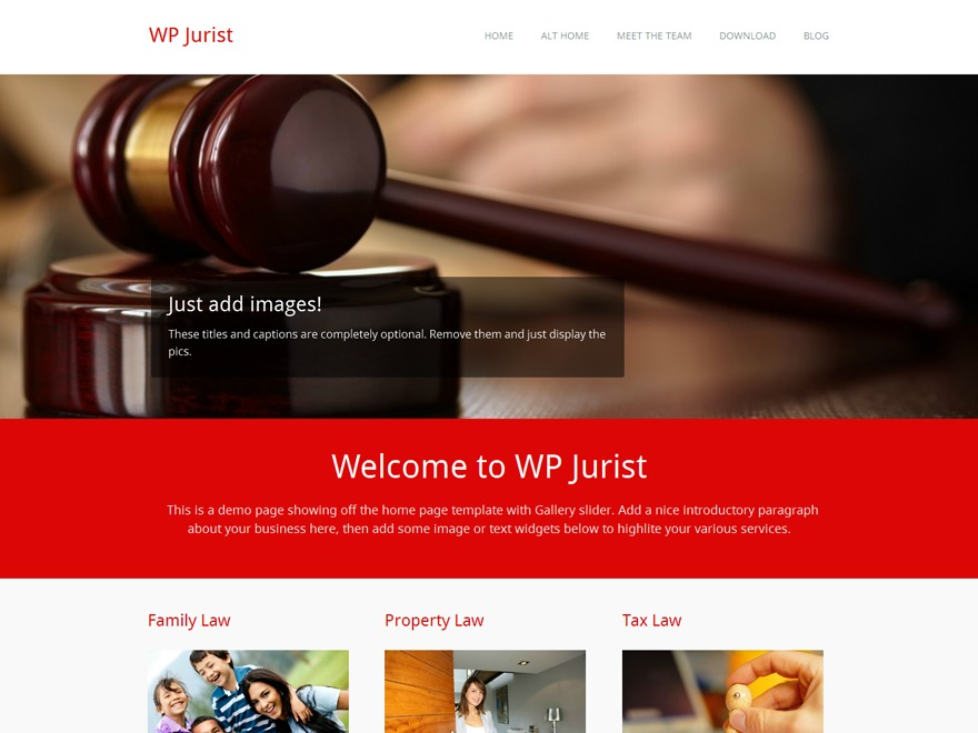 WP Jurist WordPress template for business