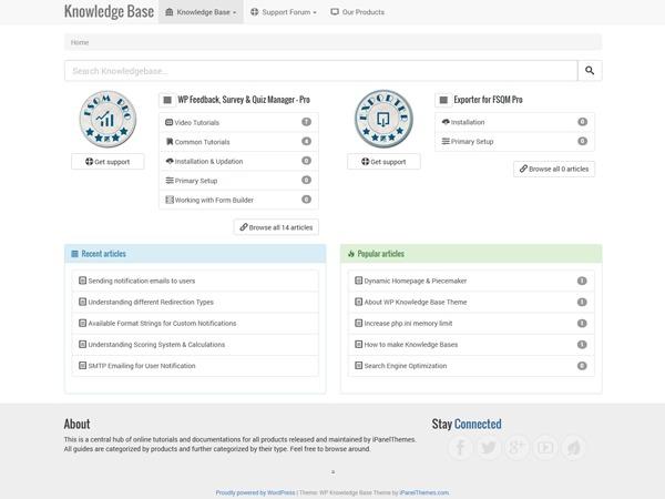 WP Knowledge Base wallpapers WordPress theme