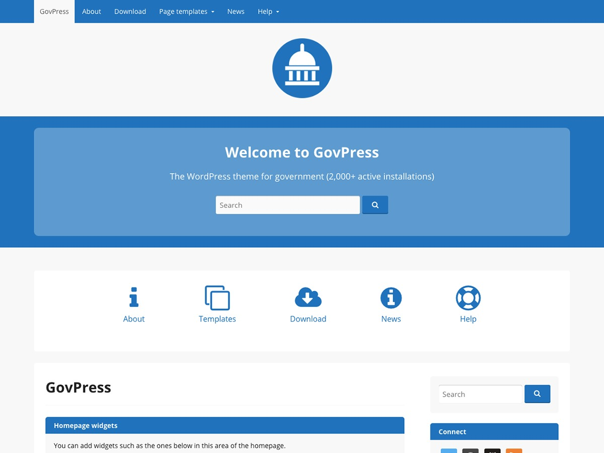 WP template GovPress