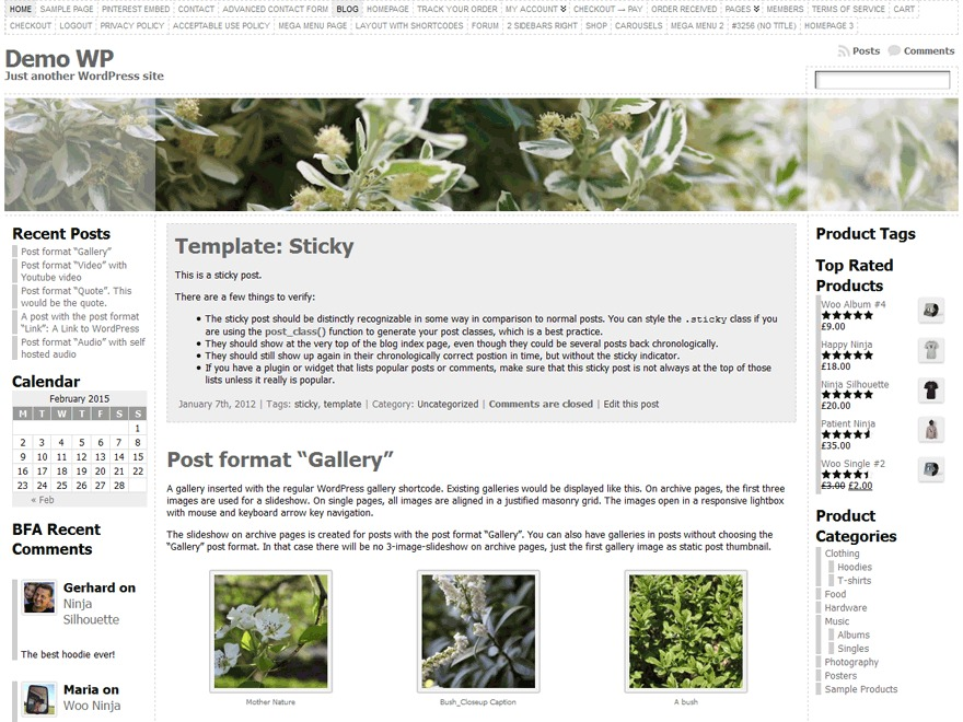 WP theme Atahualpa