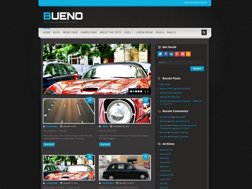 WP theme Bueno