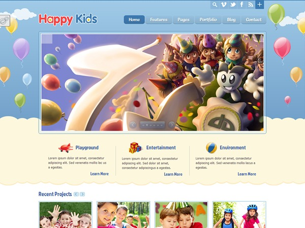 WP theme Happy Kids - Children WordPress Theme