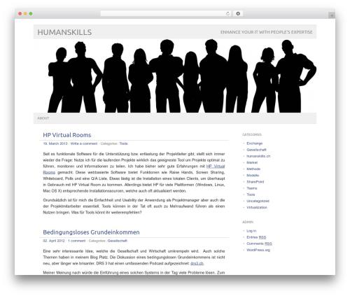 WP theme picolight - wordpress.humanskills.ch/WordPress
