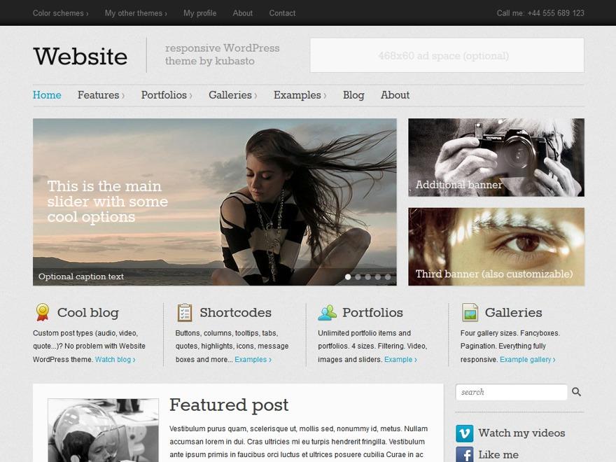 WP theme Website