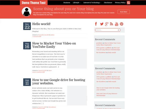 WriterStrap WordPress template free