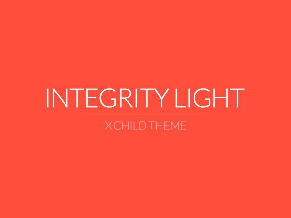 X - Child Theme: Integrity Light theme WordPress