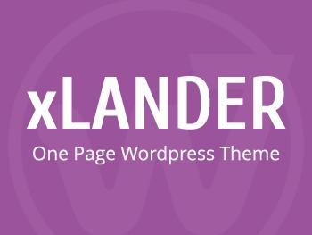xLander WordPress theme design