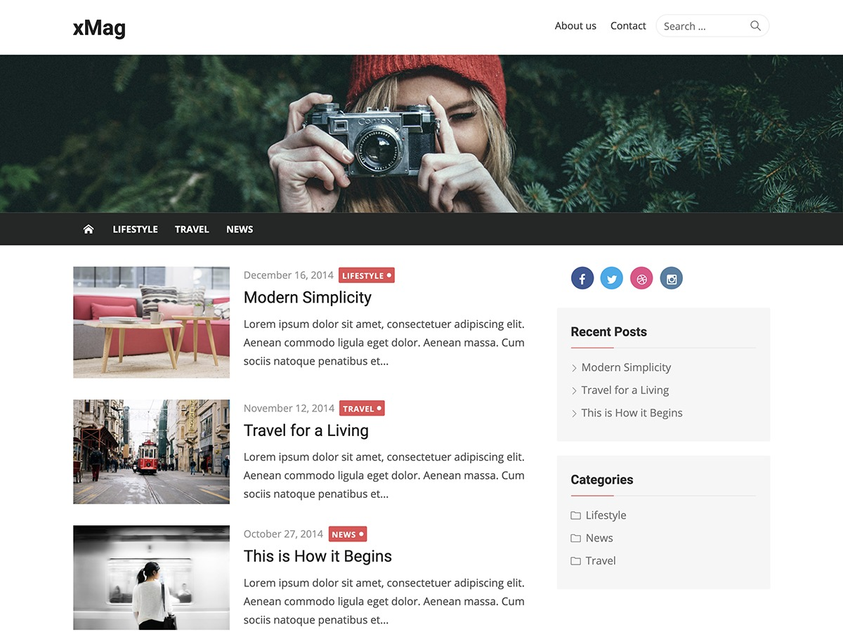 xMag WordPress blog template