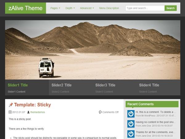 zAlive WordPress theme