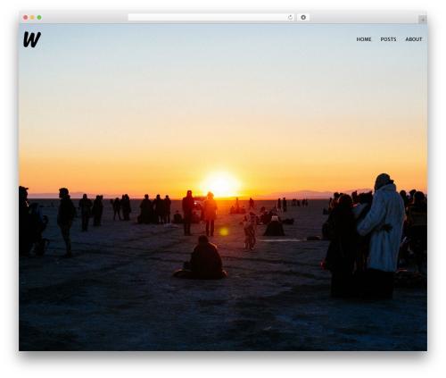 Zancudo WordPress template - wesleychen.com