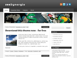 zeeSynergie WordPress blog theme