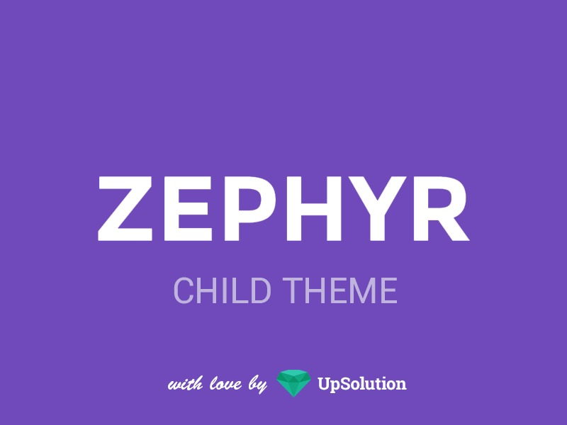 Zephyr Child WordPress theme