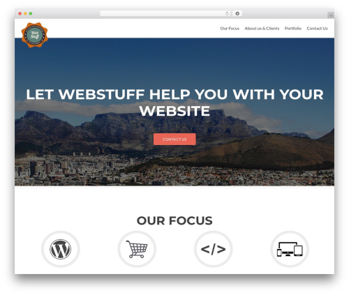 Zerif Lite free website theme - webstuff.co.za