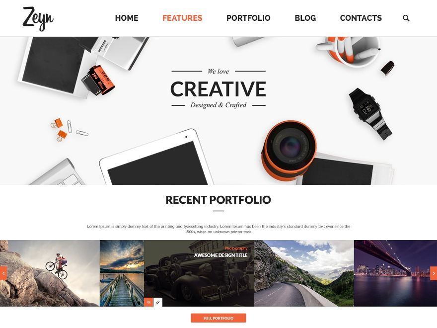 Zeyn best WordPress template