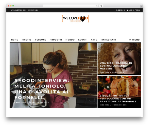 15zine   Shared By themes24x7.com WordPress website template - welovefood.it