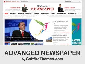 advanced newspaper WordPress news template