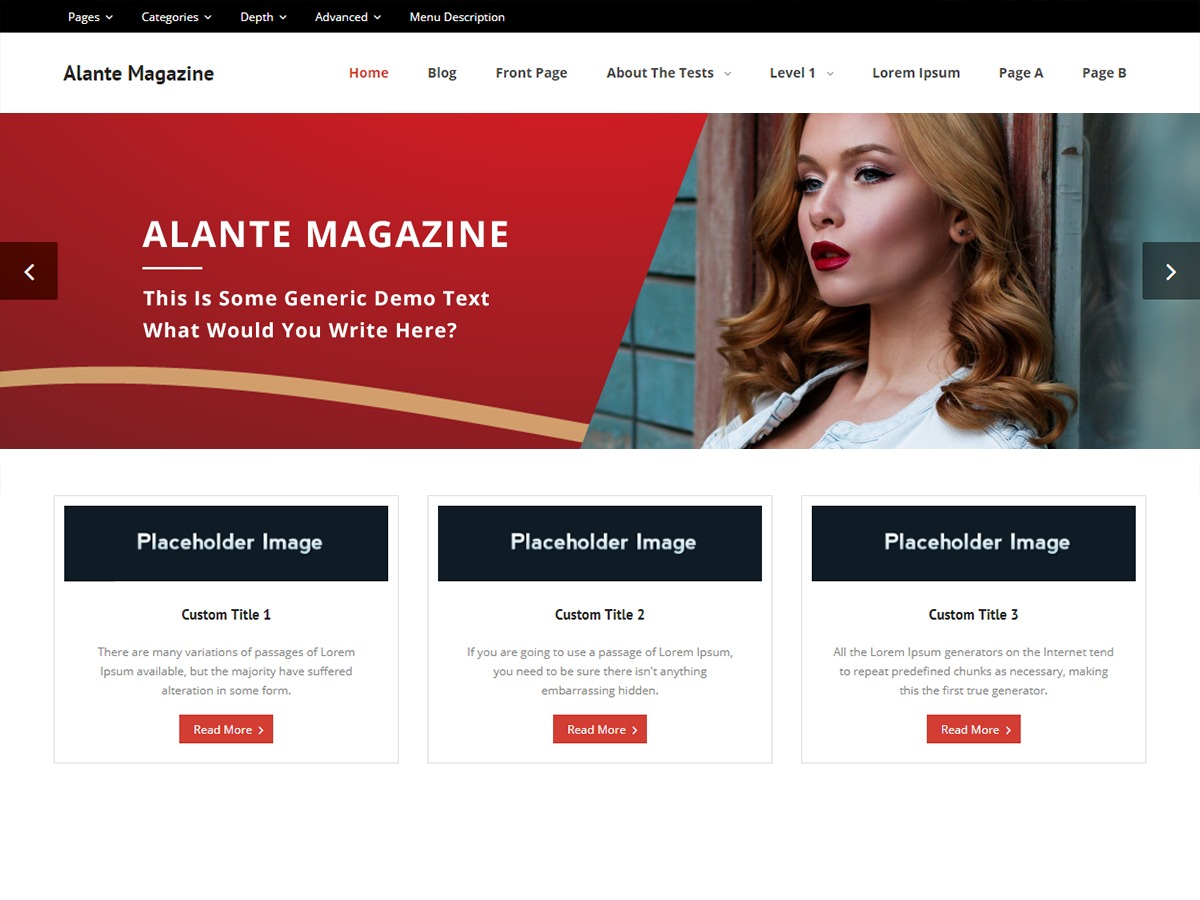 Alante Magazine WordPress theme free download