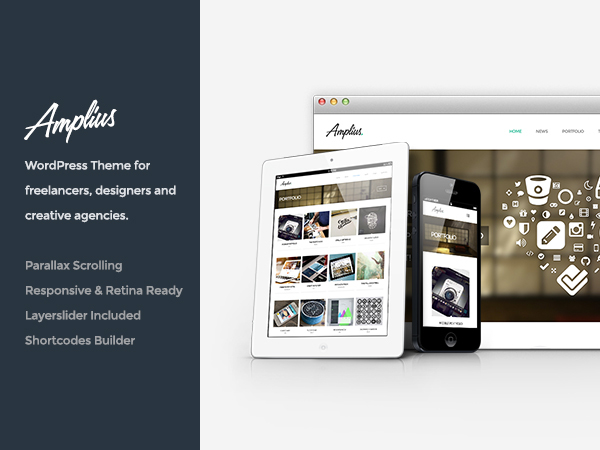 Amplius WordPress theme