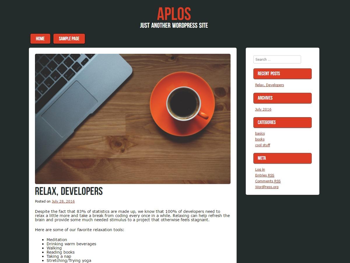 Aplos WordPress template free download