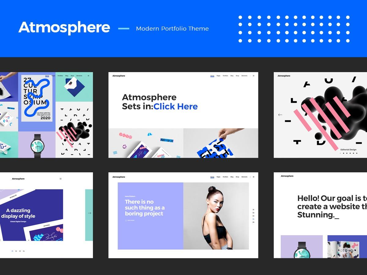 Atmosphere personal WordPress theme