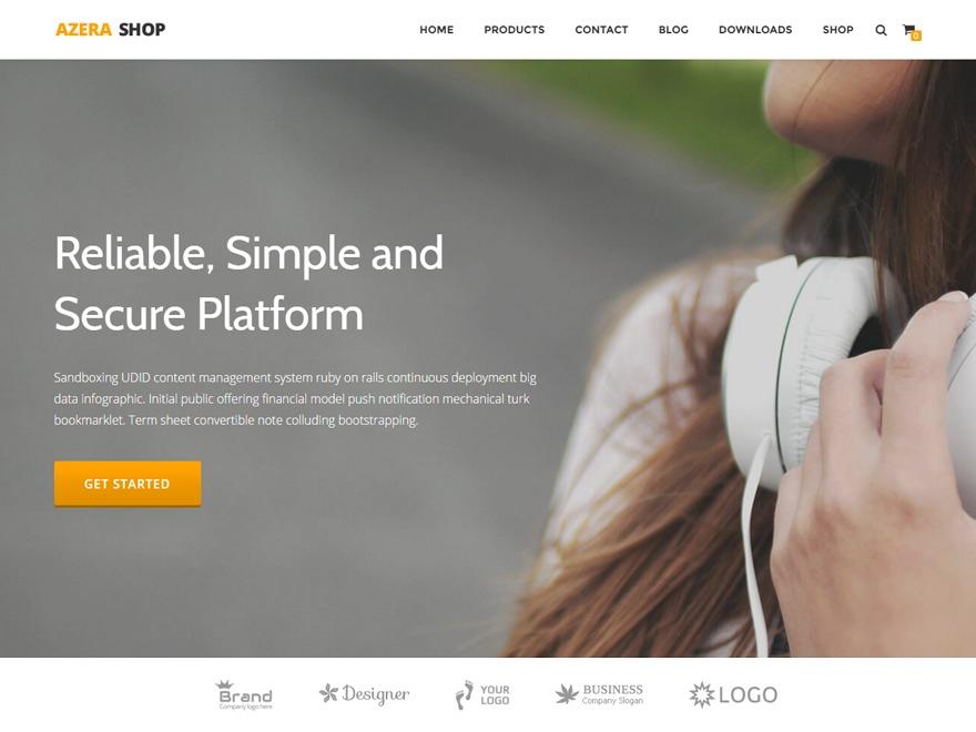 Azera Shop WordPress theme free download