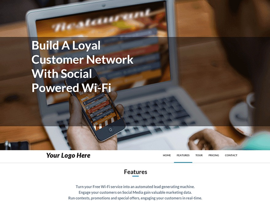 Best WordPress template MyWiFi Partners