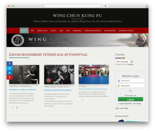 Best WordPress template Puresimple Pro - wing-chun-kung-fu.gr