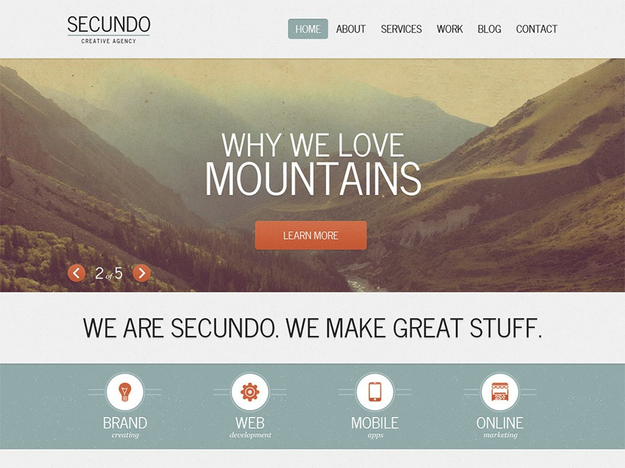 Best WordPress template Secundo