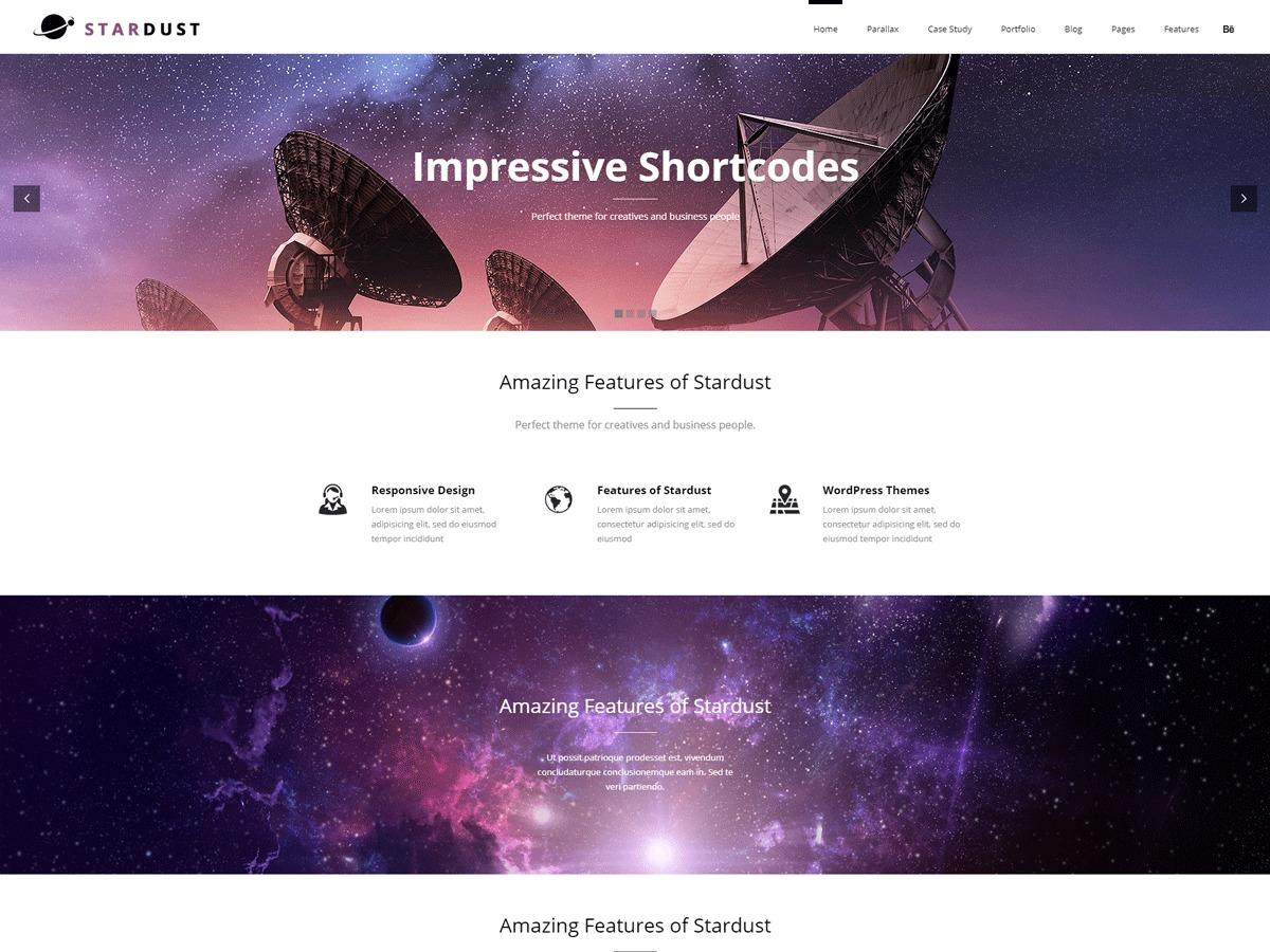 Best WordPress template Stardust