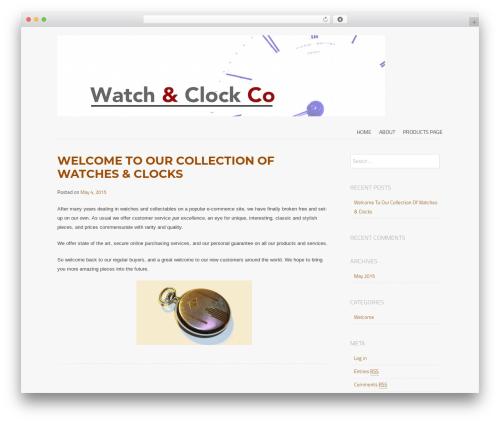 Best WordPress template Storefront Paper - watchandclock.co