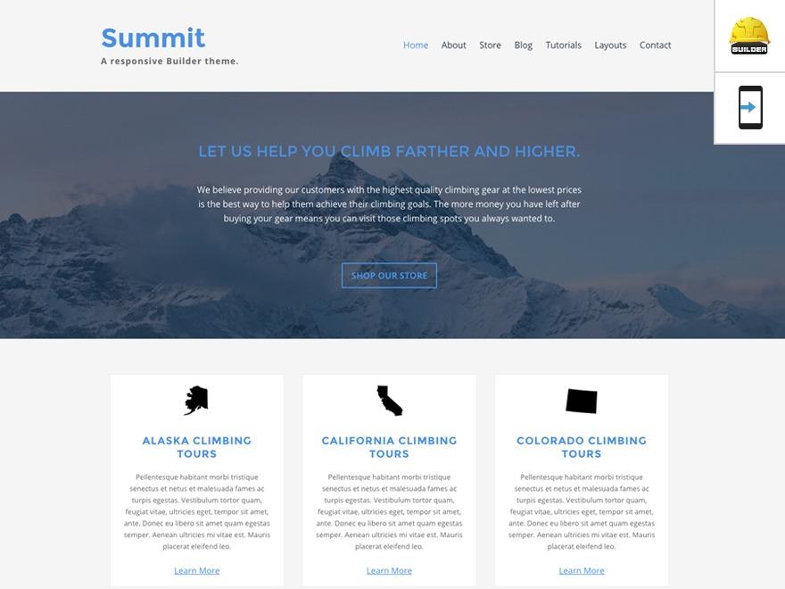 Best WordPress template Summit - Custom