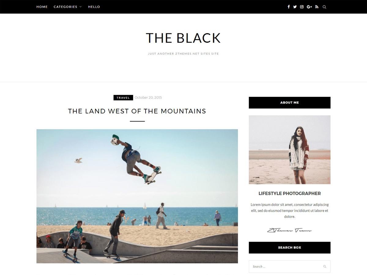 BlackLite WordPress blog template