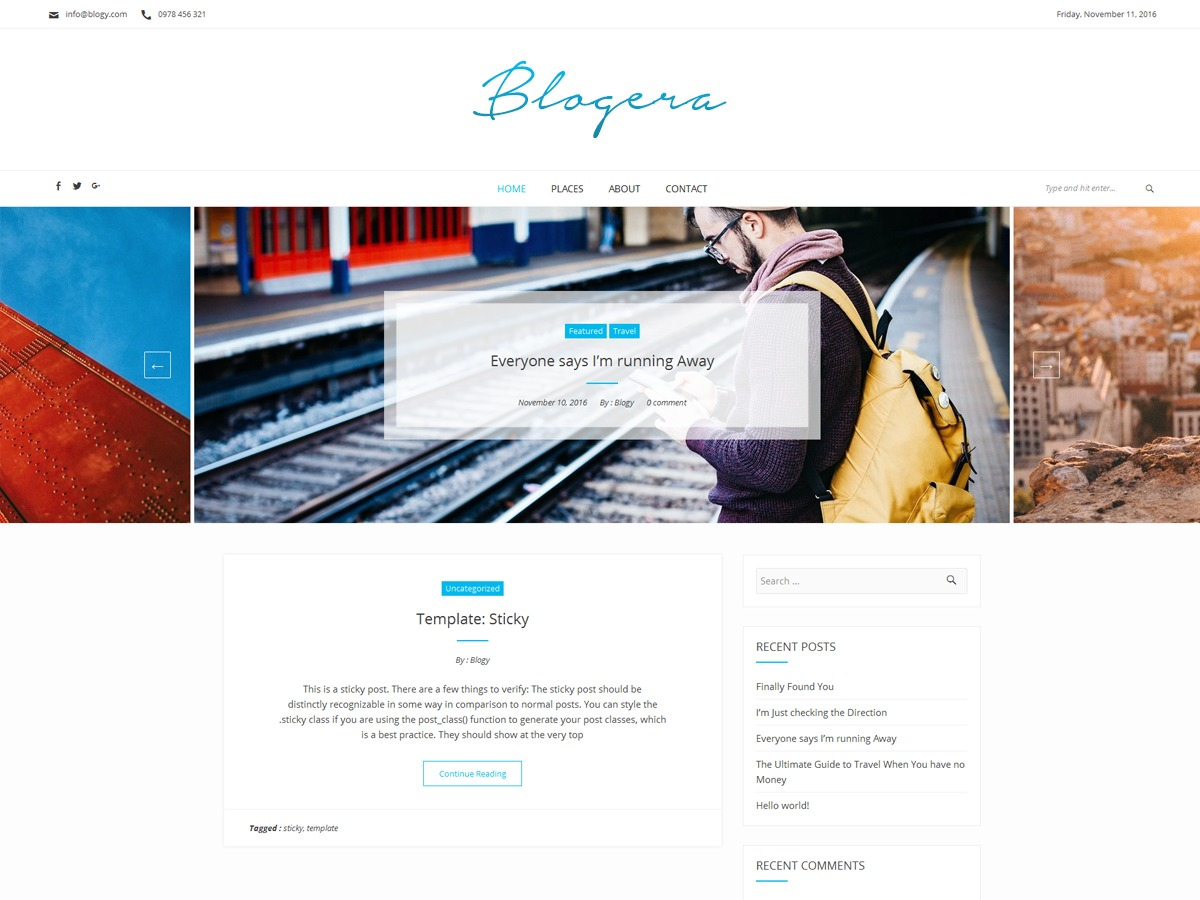 Blogera best free WordPress theme