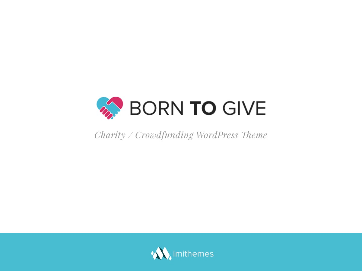 Born To Give WordPress website template