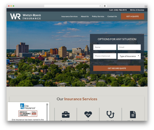 BrightFire Stellar company WordPress theme - whitleyreavis.com
