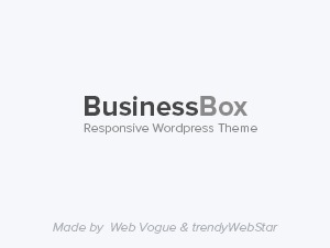 BusinessBox company WordPress theme